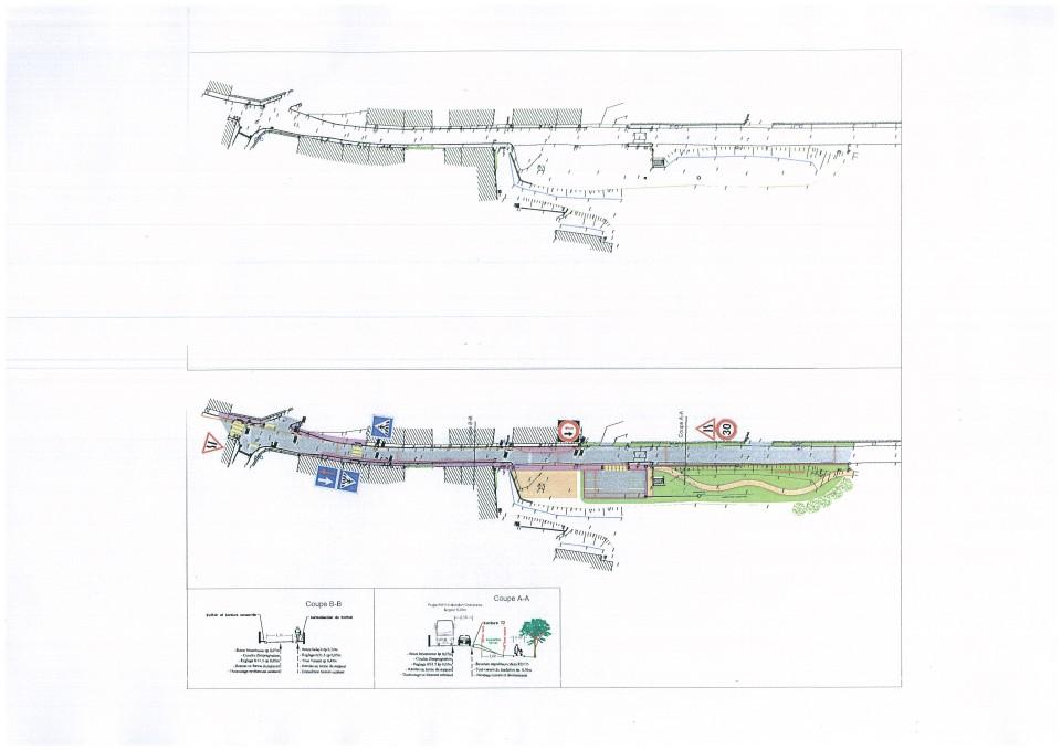 Plan relatif à l'aménagement de la traversée de Veaunes